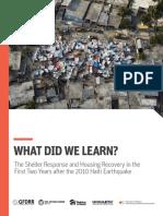 Haiti What Did We Learn