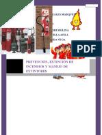 Prevención, Extinción de Incendios y Manejo de Extintores