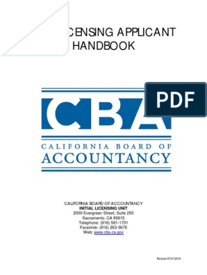 CPA Application Booklet | Certified Public Accountant