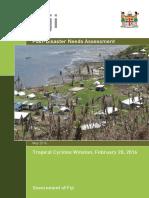 Fiji - Post-Disaster Needs Assessment TC Winston - 20 Feb 2016