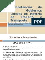 Gobiernos Locales en Materia de Transíto y Transporte Terrestre