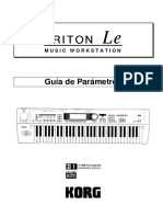 Manual Korg Triton LE en Espanol