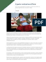 Ventajas Del Parto Vertical en El Perú
