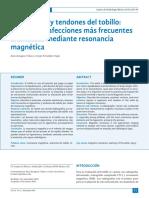 2013 Ligamentos y Tendones Del Tobillo. Anatomía y Afecciones Más Frecuentes Analizadas Mediante RM