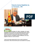 Sri Lanka Time to Come Together to take Country Forward – PM.docx