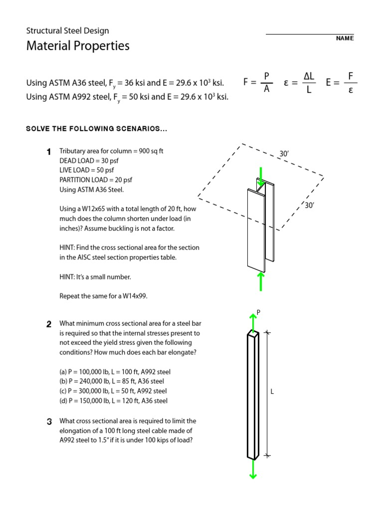 Arch311 Hmwk Materials | Elasticity (Physics) | Deformation