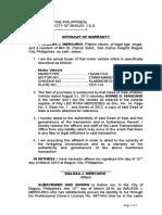 24. Affidavit of Warranty .docx