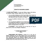 Affidavit of Non Employment.docx
