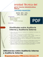 Similitudes y Diferencias Auditoría Int. y Ext.