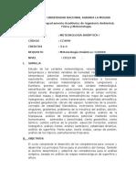 Sylabus Meteorología Sinóptica I