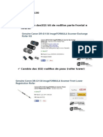 CANON DRG-1130 Especificacion de Partes