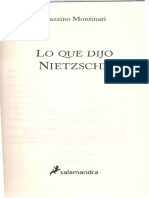 Montinari - Lo que dijo Nietzsche