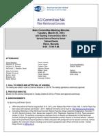 2014 3 25 - ACI 544 Main Committee Meeting Minutes - Reno02