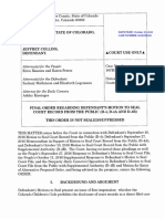 Order Regarding Defendant's Motion to Seal Court Record (00995392xB68BA)