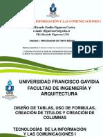Diseño de Tablas Uso de Formulas Creacion de Titulos y Columnas (1)
