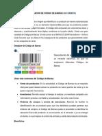 Investigacion de Código de Barras (Resumen)