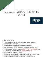 Manual Para Utilizar El Vbox