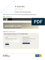 CPA Australia Membership Pathway Procedure