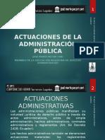Actuaciones de La Administración Pública - Autor José María Pacori Cari