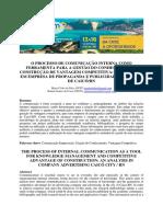 o Processo de Comunicação Interna Como Ferramenta Para a Gestão Do Conhecimento e Construção de Vantagem Competitiva - 00