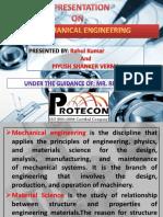 presentation on mechanical engineering