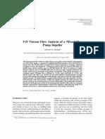 3-D Viscous Flow Analysis of a Mixed Flowpump Impeller