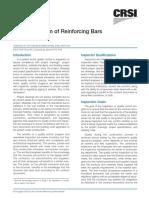 CRSI - Field Inspection of Reinforcing Bars