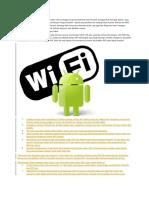Cara Membuat Android Jadi Wifi