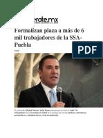 26.10.2016 EnterateMx - Formalizan Plaza a Más de 6 Mil Trabajadores de La SSA