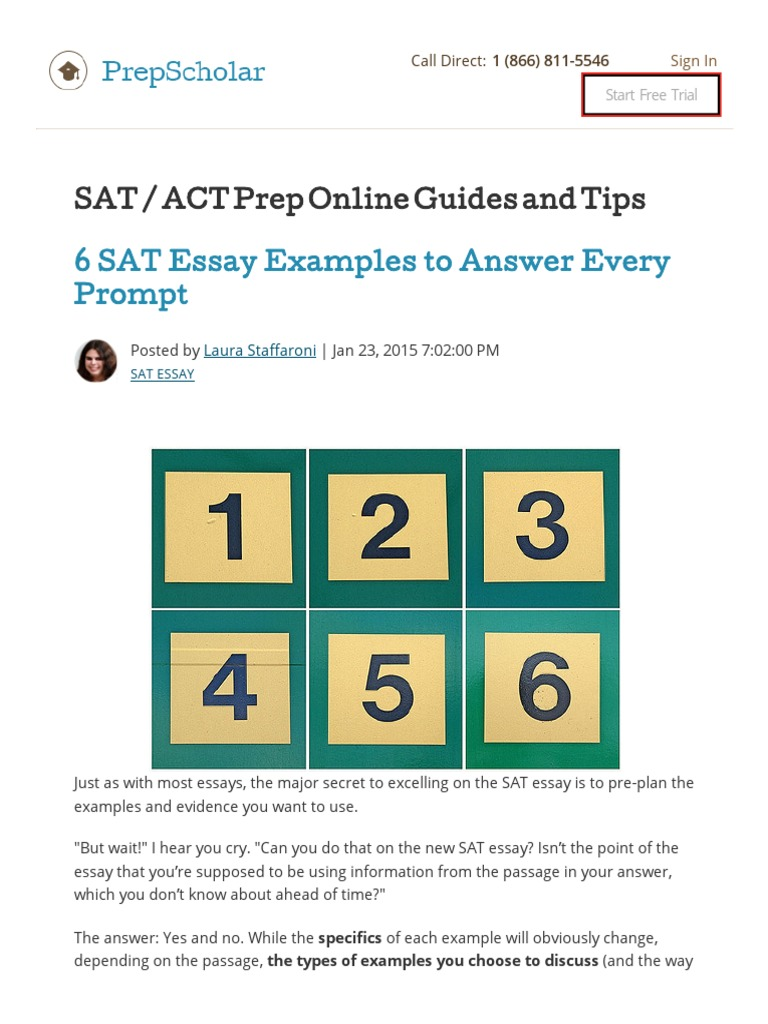 6 SAT Essay Examples To Answer Every Prompt 2016