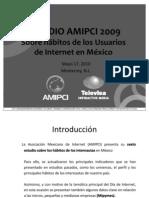 AMIPCI HABITOS DE USUARIOS DE INTERNET EN MEXICO 2010
