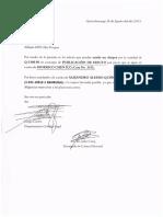 Publicacion de Edicto Coban