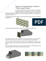Computational Analysis of a Composite Energy Absorber for Public Transport Vehicles
