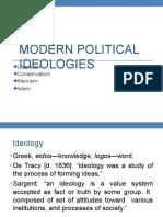 17 Modern Political Ideologies