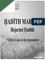 RKQS 2021 Fabrication of Hadith PPT