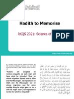 hadith memorisation + translation