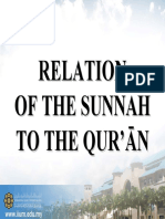 RKQS 2021 Relation of the Sunnah to the Quran PPT