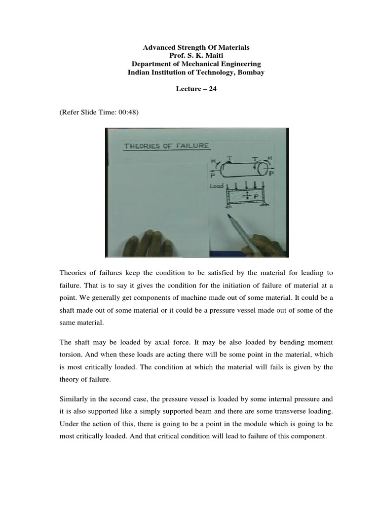 Iit Ams | Yield (Engineering) | Stress (Mechanics)