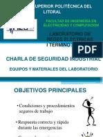 Charla Seguridad Equipos Laboratorio 2015-2016