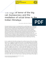 Mathur-The Reign of Terror of the Big Cat. Bureaucracy and the Mediation of Social Times in the Indian Himalaya 2014