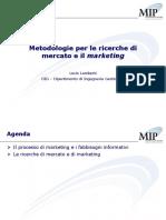 Metodologie di ricerche di mercato