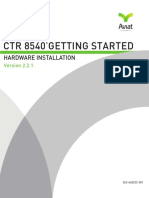 CTR 8540 Getting Started Guide HW Installation 2 2 1 July 2014