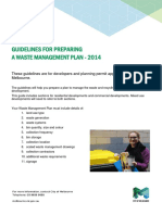 Guidelines for Waste Management Plan 2014