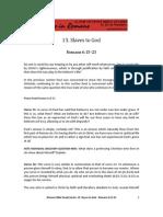 Romans Bible Study 13
