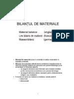 3.Bilantul de Materiale