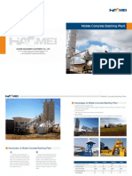 Catalogue of Mobile Concrete Batching Plant