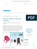 How to Make an Air-Core Inductor – Electronic Circuits and Diagram-Electronics Projects and Design