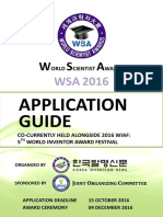 WSA2016 Application Guide