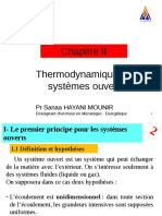 Thermodynamique II- Chapitre II