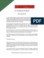 Romans Bible Study 19